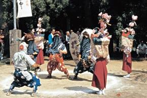 越畑の八宮神社の獅子舞 埼玉