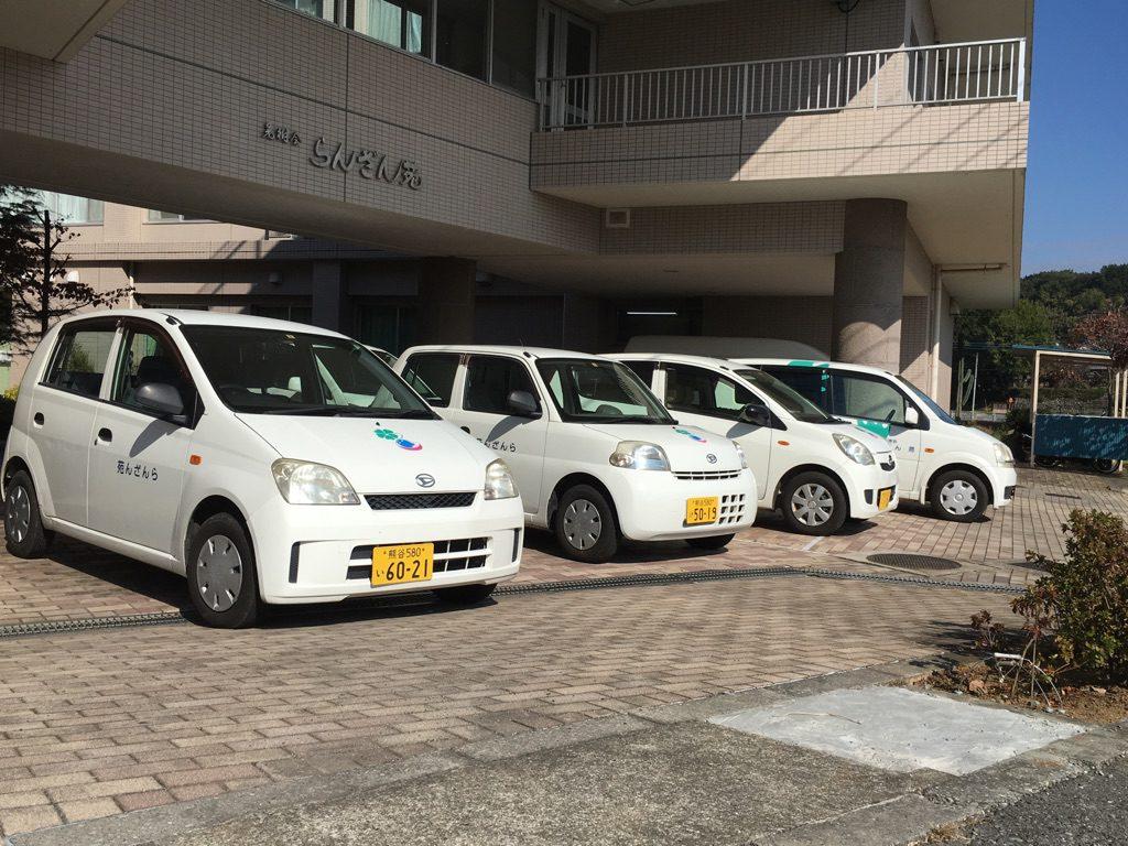 ヘルパー専用車両4台でサービスに出向きます。